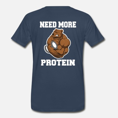 Muscular Fitness Gym Bear - Protein Grizzly Bear - Men's Premium T-Shirt