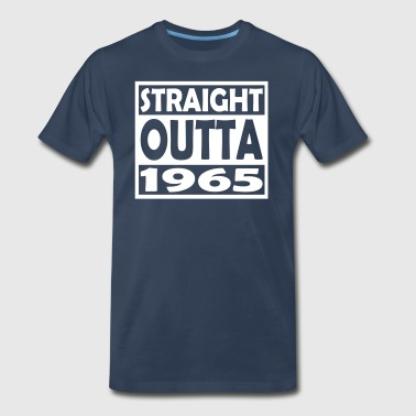 52nd Birthday T Shirt Straight Outta 1965 - Men's Premium T-Shirt