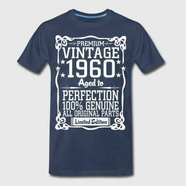 Premium Vintage 1960 Aged To Perfection 100% Genui - Men's Premium T-Shirt
