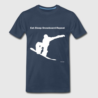 Eat Sleep Snowboard Repeat - Men's Premium T-Shirt