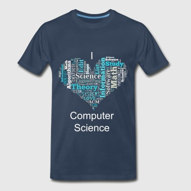 Computer Science Heart - Men's Premium T-Shirt