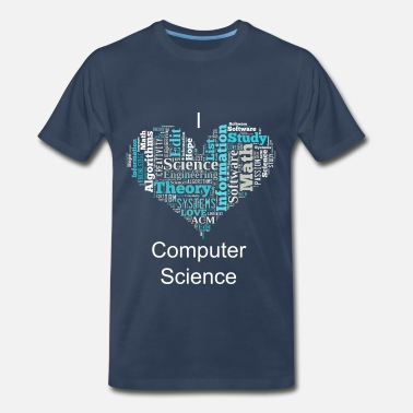 Algorithm Computer Science Heart - Men's Premium T-Shirt