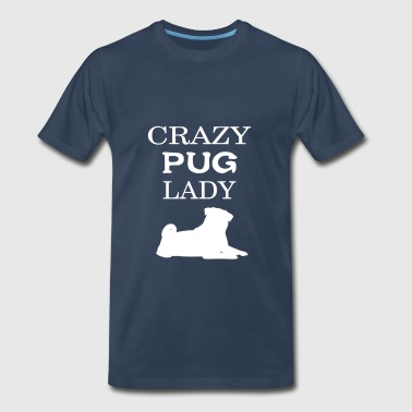 Pug - Crazy Pug lady - Men's Premium T-Shirt