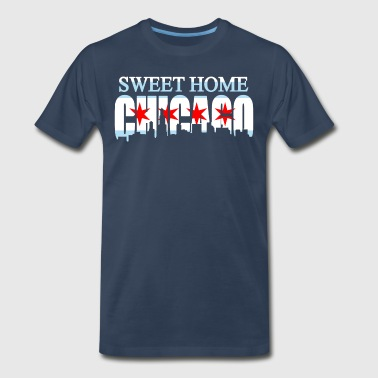 Sweet Home Chicago Flag - Men's Premium T-Shirt