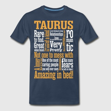 Taurus Amazing In Bed - Men's Premium T-Shirt