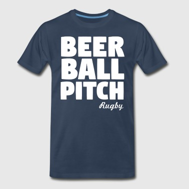 Beer Ball Pitch Rugby - Men's Premium T-Shirt