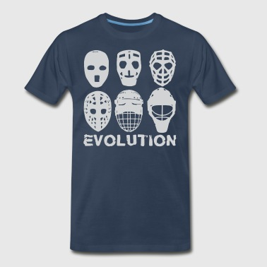 hockey goalie mask evolution - Men's Premium T-Shirt