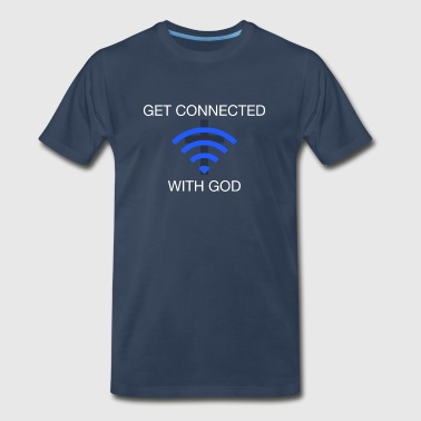 Get connected with God 2 - Men's Premium T-Shirt