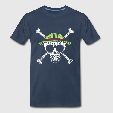 One_piece_logo_monogram_skull - Men's Premium T-Shirt