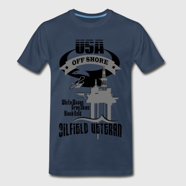 USA Oilfield Veteran - Men's Premium T-Shirt