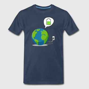 Recharge The World - Recharge The Earth - Men's Premium T-Shirt