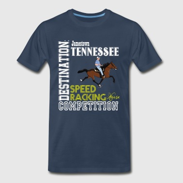 Destination: Jamestown Speed Racking Horse Racing - Men's Premium T-Shirt