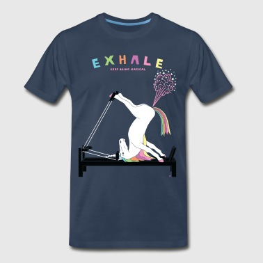 Pilates Unicorn Exhale - Men's Premium T-Shirt