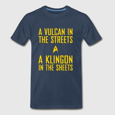 A vulcan in the streets a klingon in the sheets - Men's Premium T-Shirt