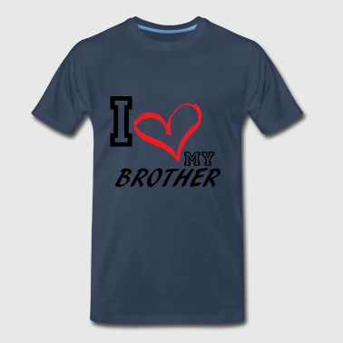 I_LOVE_MY_BROTHER - PLUS SIZE - Men's Premium T-Shirt