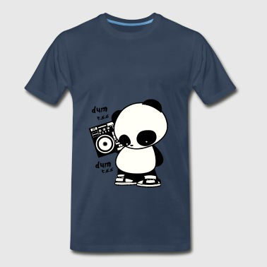 hip hop panda - Men's Premium T-Shirt