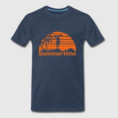 Summertime Surfer - Men's Premium T-Shirt