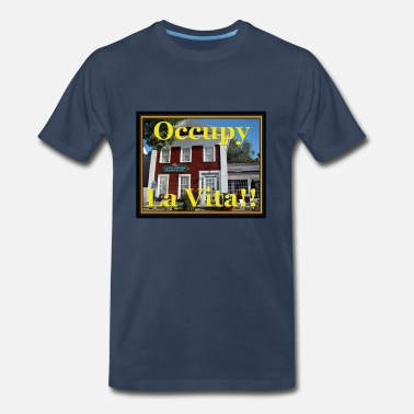 Connecticut River Occupy La Vita Gustosa, East Haddam, CT - Men's Premium T-Shirt
