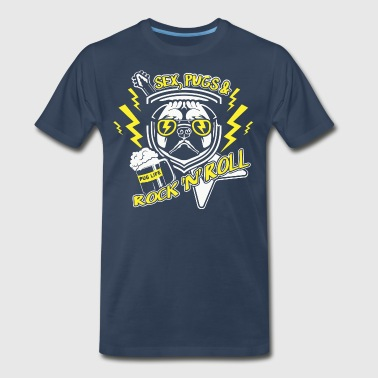 Sex, Pugs and Rock-n Roll - Men's Premium T-Shirt