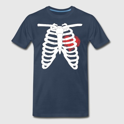 Rib cage skeleton with a Big Heart! - Men's Premium T-Shirt