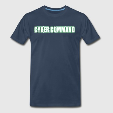 Cyber Command by Basement Mastermind Hacking T S - Men's Premium T-Shirt