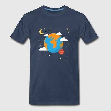 Earth Planet - Men's Premium T-Shirt