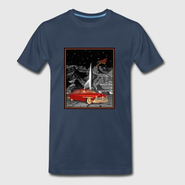 Commander Cody Lincoln in Space - Men's Premium T-Shirt