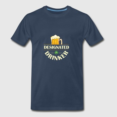 Designated Drinker Four Leaf Clover - Drinker St Patrick's Day Shirt - Men's Premium T-Shirt