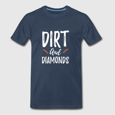 SVG Commercial Personal Use Baseball Softball Dirt and Diamonds Silhouette Cameo Funny Shirts Gifts - Men's Premium T-Shirt