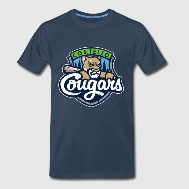 Costello Cougars Team Logo - Men's Premium T-Shirt