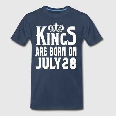 Kings Are Born On July 28 - Men's Premium T-Shirt