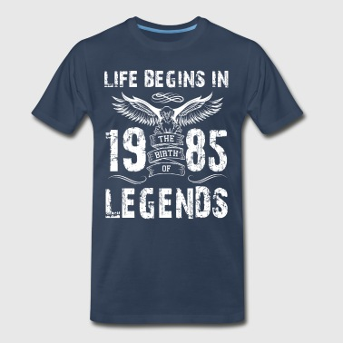 Life Begin In 1985 Legends - Men's Premium T-Shirt