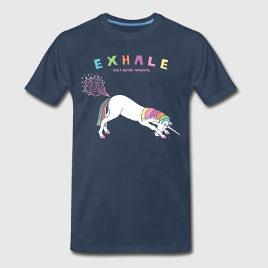 Down Dog Unicorn Exhale - Men's Premium T-Shirt