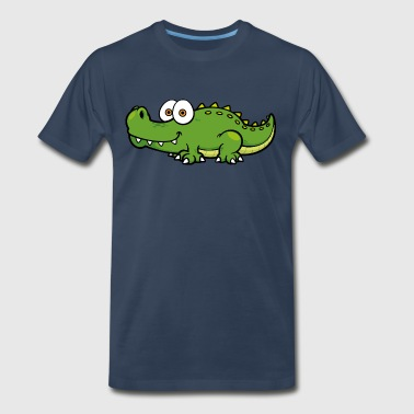 crocodile-alligator-reptile-wildlife-animal-smilin - Men's Premium T-Shirt