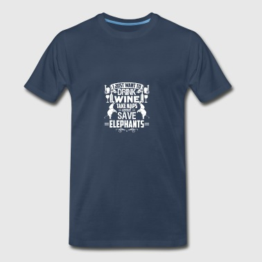 I Just Want To Save Elephants Tshirt - Men's Premium T-Shirt