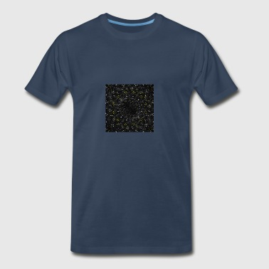 abstract-black-waves4 digital painting - Men's Premium T-Shirt