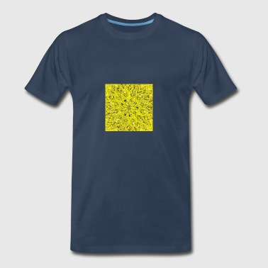 abstract-yellow digital painting - Men's Premium T-Shirt