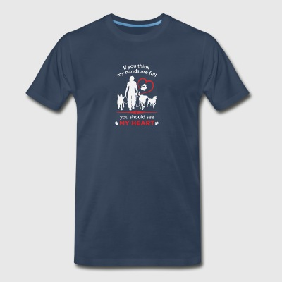 Dog Lover You Should See My Heart T Shirt - Men's Premium T-Shirt
