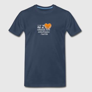 My Heart-Basketball - Men's Premium T-Shirt