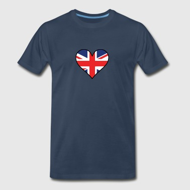 British Flag Heart - Men's Premium T-Shirt