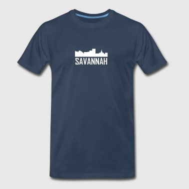Savannah Georgia City Skyline - Men's Premium T-Shirt