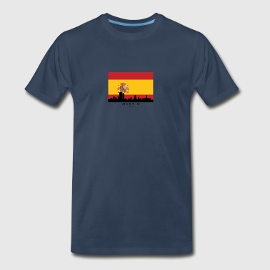 Madrid Spain Skyline Spanish Flag - Men's Premium T-Shirt