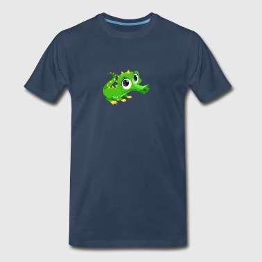 crocodile reptile animal wildlife vector art image - Men's Premium T-Shirt