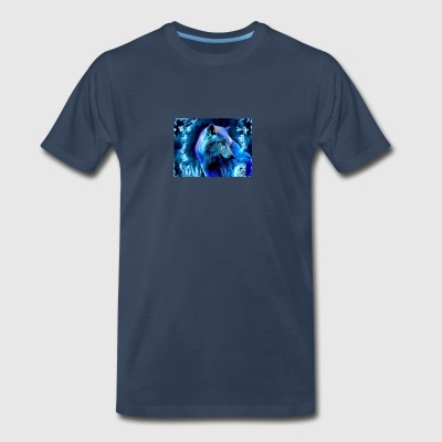 glowing wolf - Men's Premium T-Shirt