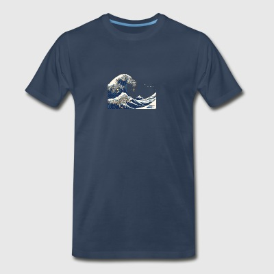 The Great Wave of Pug - Men's Premium T-Shirt