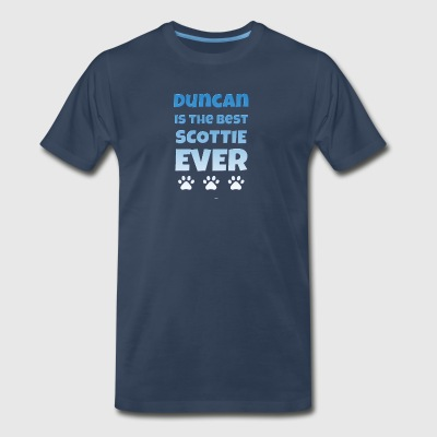 duncan is the best scottie - Men's Premium T-Shirt