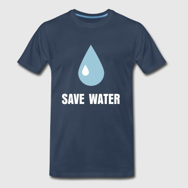 Save Water Droplet - Men's Premium T-Shirt