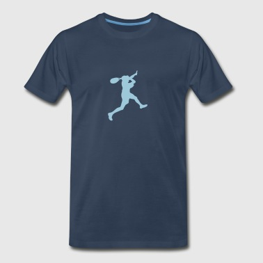 squash racket player 2 - Men's Premium T-Shirt
