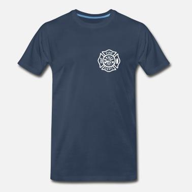 00f22644b3 Fire Department fire_white - Men's Premium T-Shirt