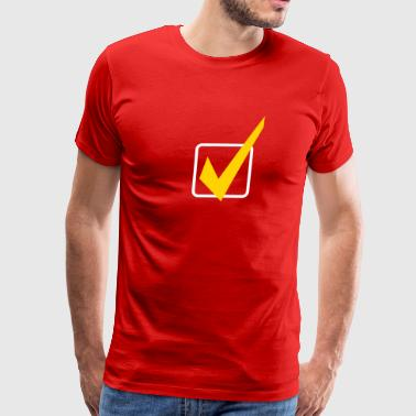 check mark - Men's Premium T-Shirt